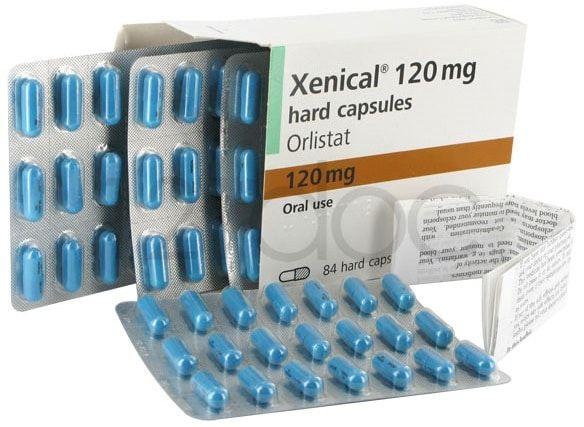 comprimidos azuis do remédio orlistat