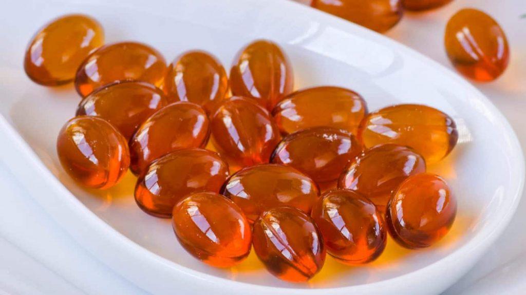 Cápsulas do remédio ômega 3