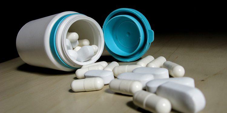 Comprimidos do remédio Efedrina