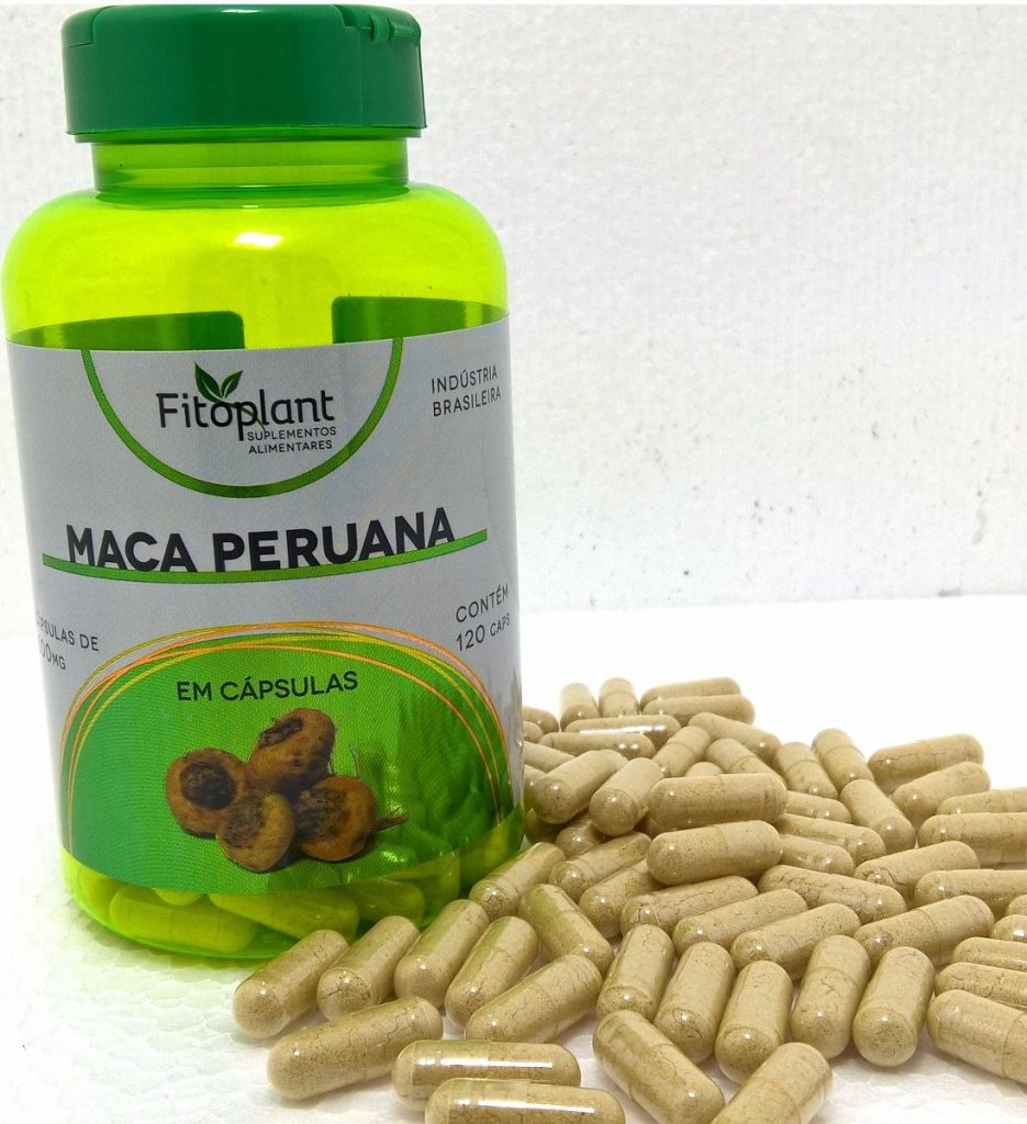 Embalagem e cápsulas da Maca Peruana